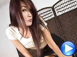 Nuto is a sexy tall girl who's a pure bottom! She loves Japanese porn and has a huge collection at her place.