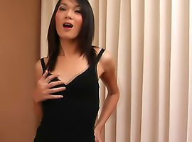 Sweet and cute ladyboy unleashes her cock