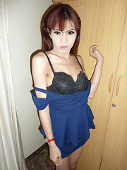 Thai Ladyboy Preaw Femboy Jizz