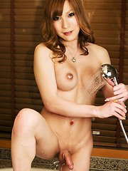 Princess Kumi returns to Shemale Japan and she loves the way her she-cock scepter feels in her warm hands.