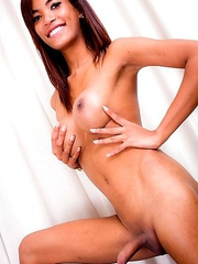 Sexy Leila is a pretty transgirl with a hot slim body, a nice firm butt, big perky tits and a nice hard uncut cock! Watch this hot and horny tgirl jac