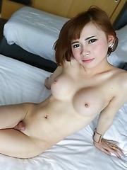 20 year old girlie girl Thai ladyboy Yuri sucks and fucks cock