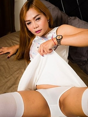 Jass is 29, she is a Bangkok girl. All natural body, a bit shy and very calm. She is versatile and loves bigger guys.