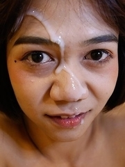 18yo flat-chested Thai ladyboy Pon rammed by white cock