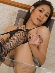 Upskirt stroking for hard cock Kathoey secretary Ae