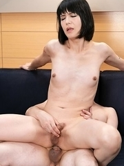 Yoko is so hard being fucked in her ass pussy!