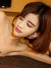 18yo petite Thai ladyboy Jubjang gets picked up and fucked by white tourist